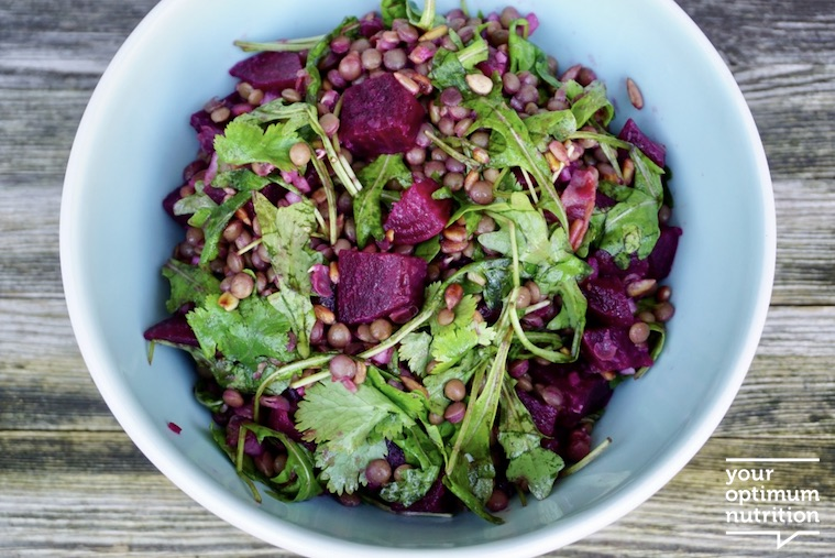 Beetroot & lentil salad